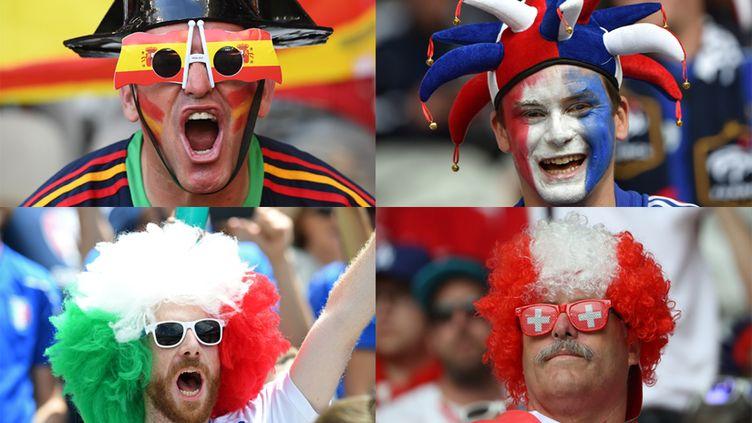 Les supporters des équipes déjà qualifiées pour les 8es de finale de l'Euro 2016