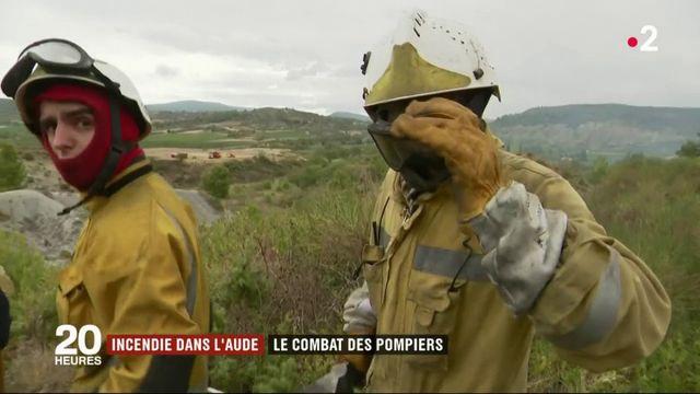 Incendie dans l'Aude : le difficile combat des pompiers
