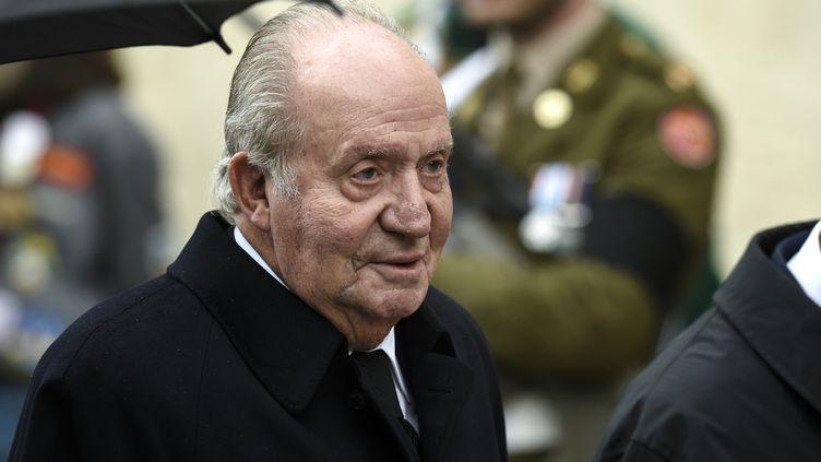 L'ancien roi d'Espagne Juan Carlos lors des funérailles de Jean d'Aviano, grand-duc de Luxembourg, le 4 mai 2019 à Luxembourg. (JOHN THYS / BELGA / AFP)