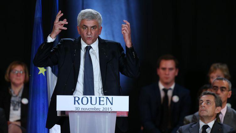 Le candidat Les Républicains-UDI, Hervé Morin, le 30 novembre 2015 à Rouen (Seine-Maritime). (CHARLY TRIBALLEAU / AFP)