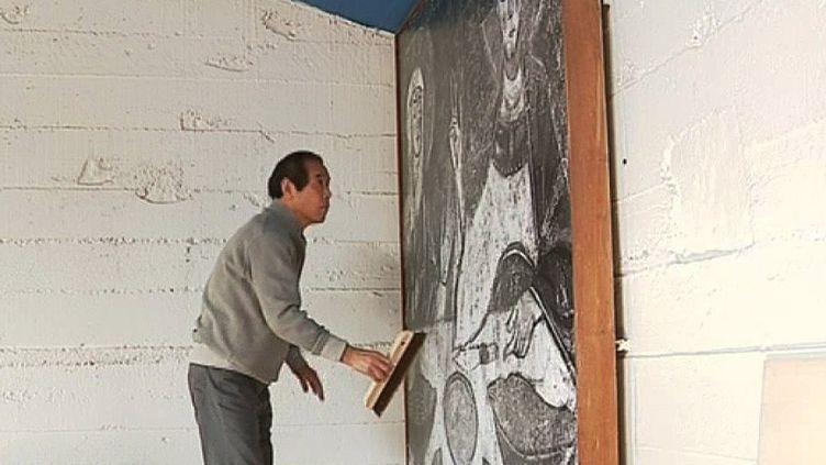 Photo de Le Corbusier remplacée par Tetsuyu Shiraishi  (Le Corbusier. France 3/ Culturebox)