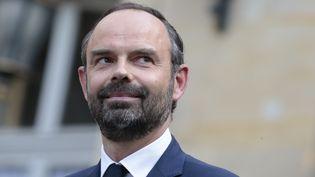 Le Premier ministre Edouard Philippe, lors de la passation de pouvoirs, lundi 15 mai 2017 à Paris. (JOEL SAGET / AFP)