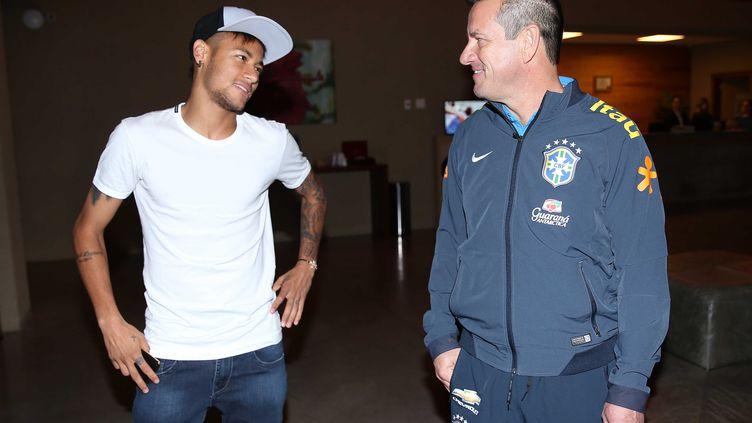 Neymar et Dunga. (RAFAEL RIBEIRO / CBF)