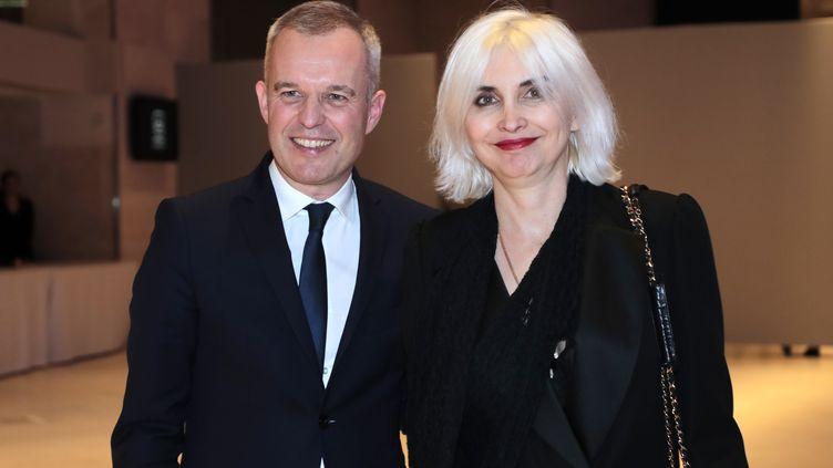 François et Séverine de Rugy, au 34e dîner du Conseil représentatif des institutions juives de France, au Carrousel du Louvre à Paris, le 20 février 2019. (LUDOVIC MARIN / AFP)