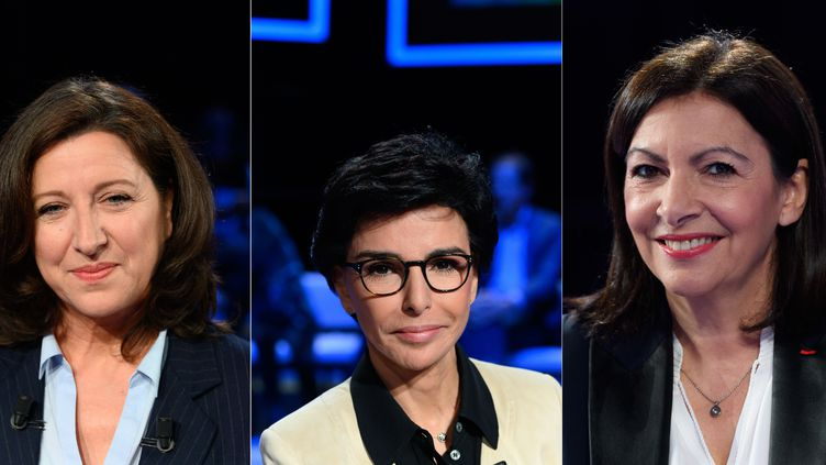 Agnès Buzyn, Rachida Dati et Anne Hidalgo, le 9 mars 2020. (SIPA)