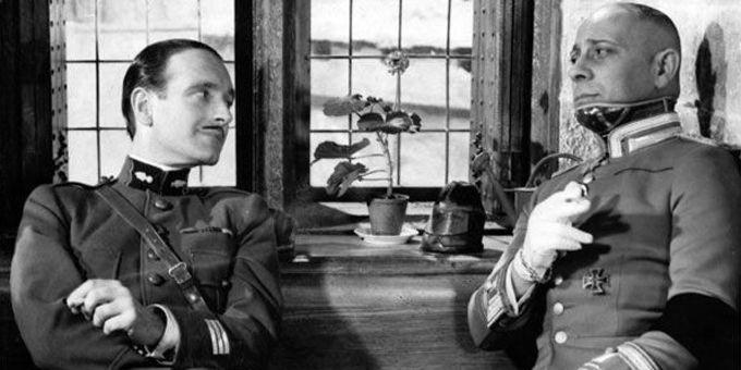 """Pierre Fresnay et Erich Von Stroheim dans """"La Grande illusion"""" de Jean Renoir  (Carlotta Films)"""
