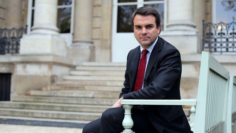 L'ex-secrétaire d'Etat au Commerce extérieur Thomas Thévenoud, alors député, le 30 octobre 2012 à l'Assemblée nationale, à Paris. (THOMAS SAMSON / AFP)
