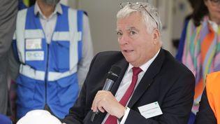 Jean-Luc Petithuguenin, président de Paprec, lors deInauguration du centre de tri des dechets SMDO de Villers Saint Paul le 14 juin 2019. (FRED HASLIN / MAXPPP)