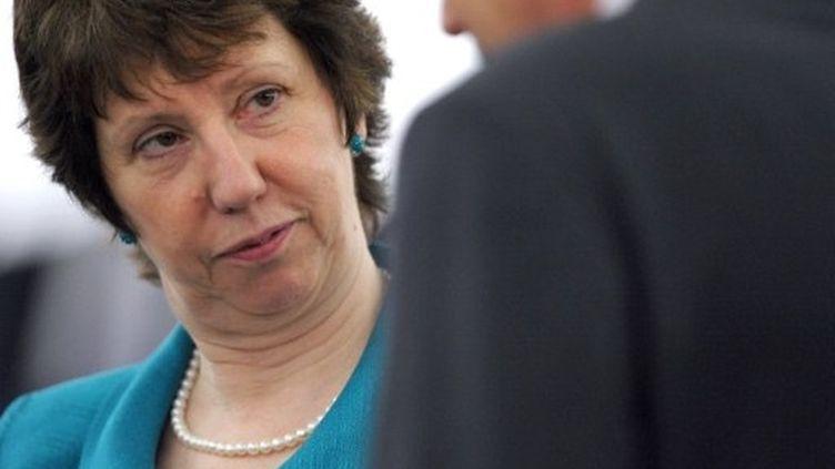 Catherine Ashton, Haut Représentant de l'Union européenne, participe à une session au Parlement européen, le 11/5/2011 (AFP - Frederick Florin)