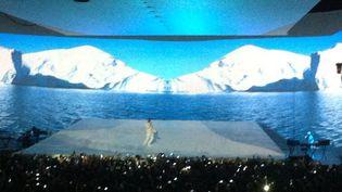 Kanye West le 25 février 2013 au Zénith de Paris.  (Laure Narlian)