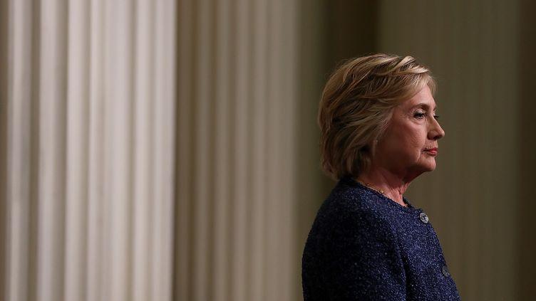 La candidate démocrate à la Maison-Blanche Hillary Clinton, le 9 septembre 2016, àNew York aux Etats-Unis. (JUSTIN SULLIVAN / GETTY IMAGES NORTH AMERICA / AFP)