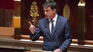 Manuel Valls à la tribune de l'Assemblée nationale,le 12 mai 2016 (GEOFFROY VAN DER HASSELT / AFP)