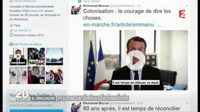 Emmanuel Macron : polémique sur la colonisation
