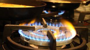 Une cuisinière à gaz à Thionville (Moselle), le 19 décembre 2013. (MAXPPP)
