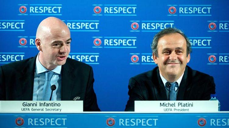 (Infantino candidat de l'UEFA à la tête de la FIFA est-il toujours l'ami de Platini ?  © MaxPPP)
