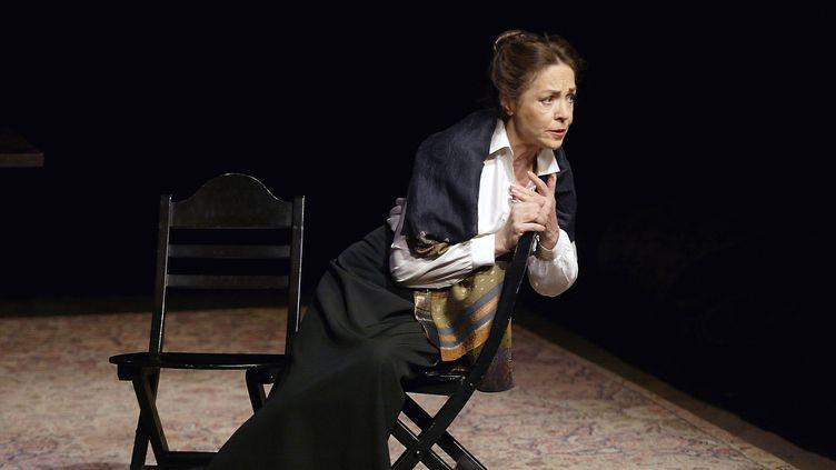 Natasha Parry, en 2003, au théâtre des Bouffes du Nord  (MARTIN BUREAU / AFP)