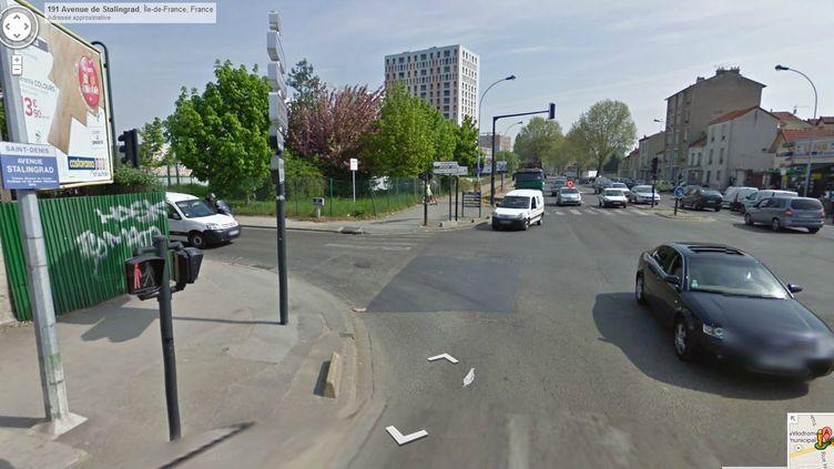 L'avenue Stalingrad, à Saint-Denis (Seine-Saint-Denis). (GOOGLE STREET VIEW / FRANCETV INFO)