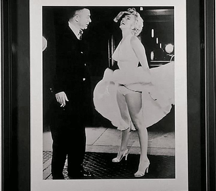 """Marylin de profil, lors du tournage de """"Sept ans de réflexion"""" de Billy Wilder  (France 3 / Culturebox / capture d'écran)"""