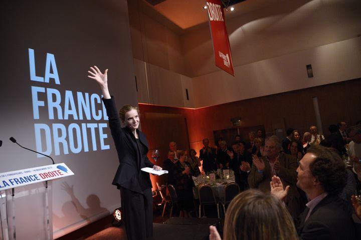 """Nathalie Kosciusko-Morizet lors du lancement de """"La France droite"""", le 14 novembre 2012 à Paris. (BERTRAND GUAY / AFP)"""