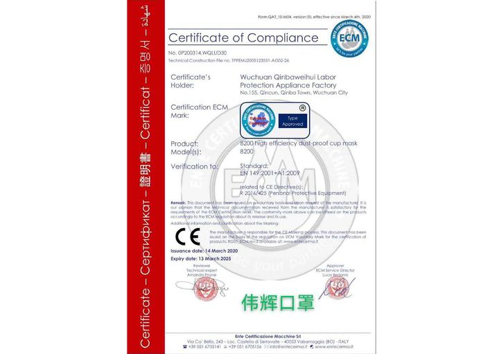 Certificats de conformité de masques fabriqués en Chine, proposés à la vente en France. (DOCUMENT RADIO FRANCE)