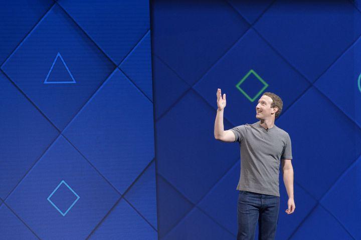 Mark Zuckerberg, fondateur de Facebook, lors d'une conférence à San José (Californie, Etats-Unis), le 18 avril 2017. (ANDREJ SOKOLOW / DPA / AFP)