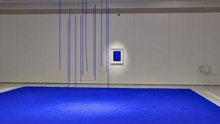 """""""Yves Klein, des cris bleus"""" au musée Soulages de Rodez (THIERRY ESTADIEU                )"""