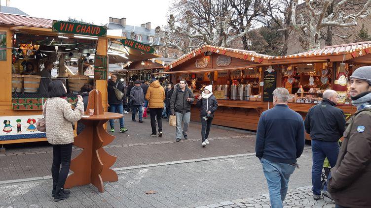Le marché de Noël de Strasbourg, le 24 décembre 2018. (MAXPPP)
