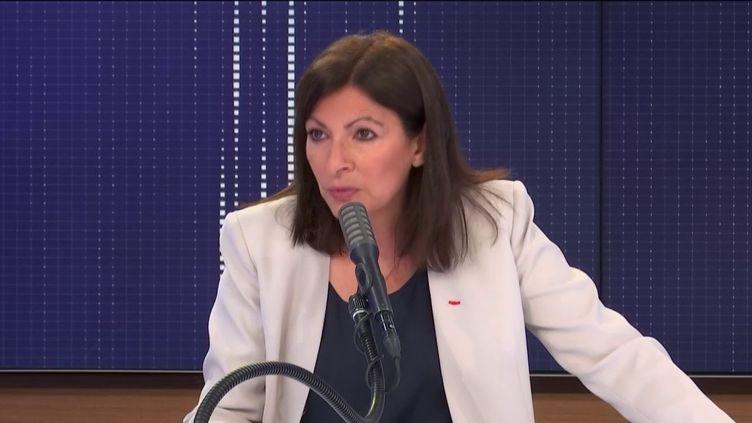 """Anne Hidalgo, maire PS de Paris,était l'invitée du """"8h30franceinfo"""", jeudi 18juin 2020. (FRANCEINFO / RADIOFRANCE)"""