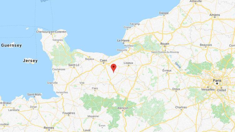 La fête a réuni une centaine de personnes dans un gîte à Ernes, dans le Calvados. (CAPTURE D'ECRAN GOOGLE MAPS)