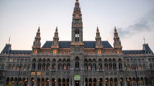 L'hôtel de ville de Vienne, en Autriche, le 22 mars 2012. (DANIEL KALKER / DPA / AFP)