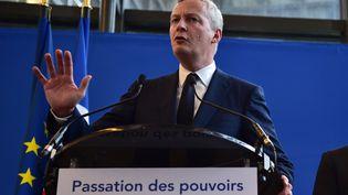 Bruno Le Maire lors de la passation de pouvoir au ministère de l'Economie, le 17 mai 2017. (CHRISTOPHE ARCHAMBAULT / AFP)