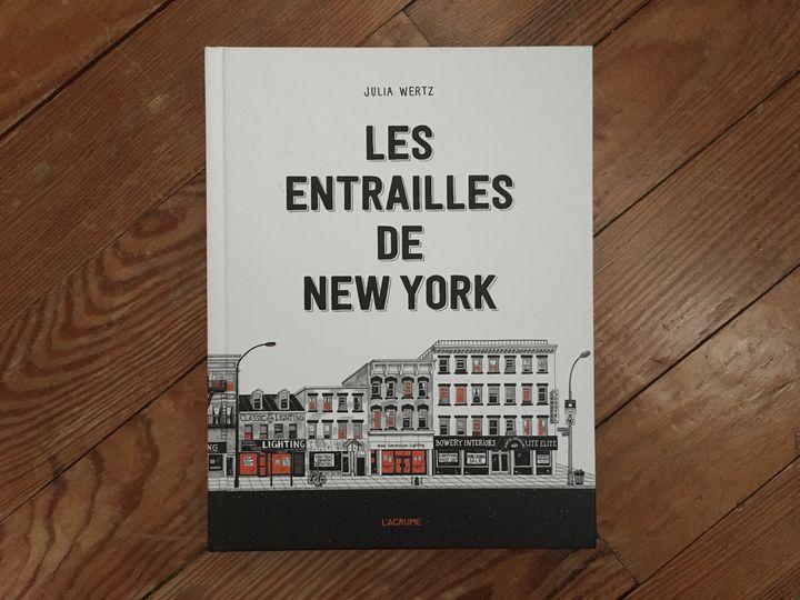 """Couverture de """"Les entrailles de New-York"""", de Julia Wertz (L'agrume)"""