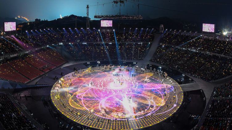 La cérémonie d'ouverture des JO de Pyeongchang (FRANCOIS-XAVIER MARIT / AFP)