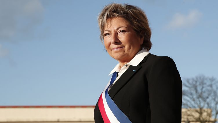 Natacha Bouchart, la maire de Calais, le 16 janvier 2018. (BENOIT TESSIER / POOL)