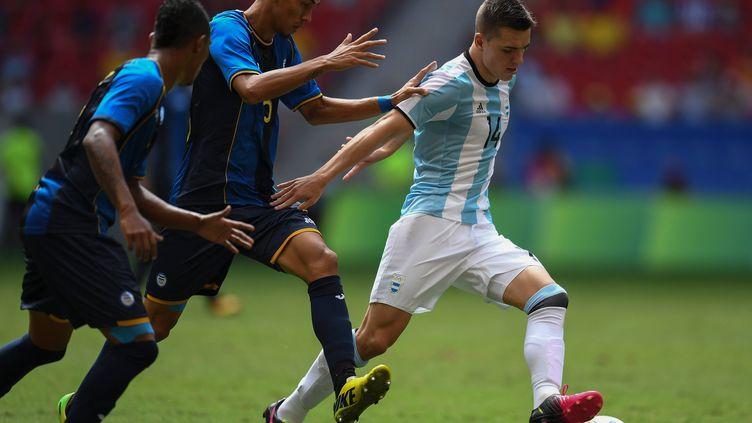 Le joueur argentin du Paris Saint-Germain, Giovanni Lo Celso