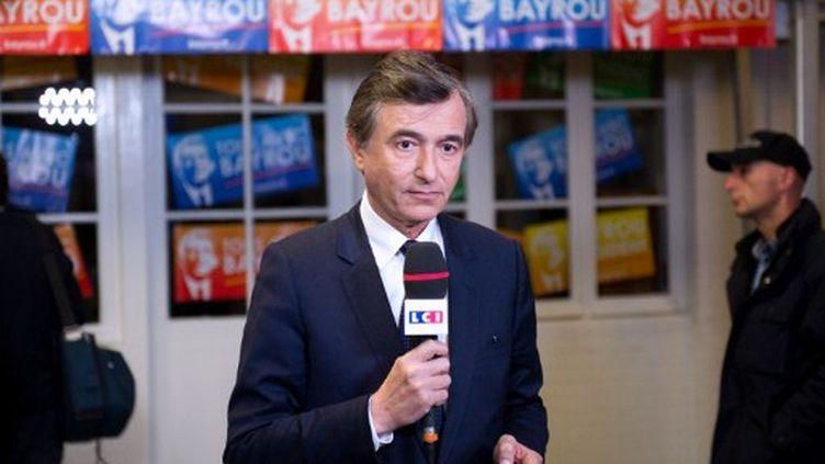 Philippe Douste-Blazy au QG du MoDem (BERTRAND LANGLOIS / AFP)