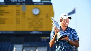 L'Américain Collin Morikawa s'impose au British Open, dimanche 18 juillet 2021. (ANDY BUCHANAN / AFP)