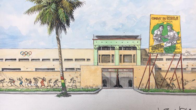 """Planche de la bande dessinée """"Ko debout à Kinshasa"""" de Barly Baruti. (EDITIONS GLENAT)"""