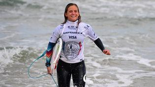 Pauline Ado, le 22 mai 2017, à Biarritz (Pyrénées-Atlantiques). (FRANCK FIFE / AFP)