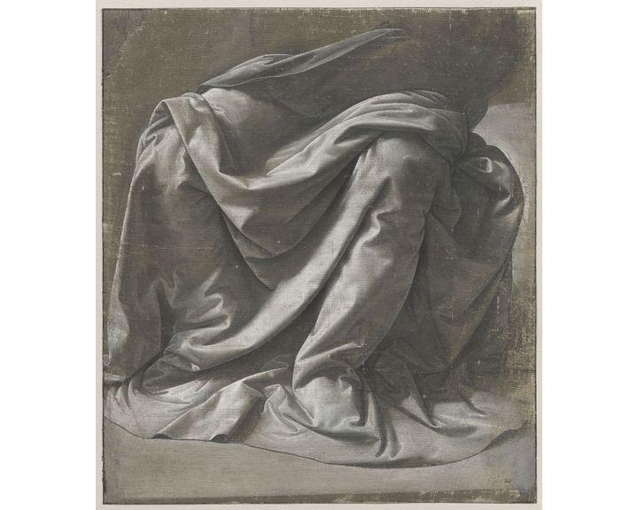"""Léonard de Vinci, """"Draperie Saint-Morys. Figure assise"""", vers 1475-1482. Paris, musée du Louvre, département des Arts graphiques (RMN-Grand Palais (musée du Louvre) / Michel Urtado.)"""