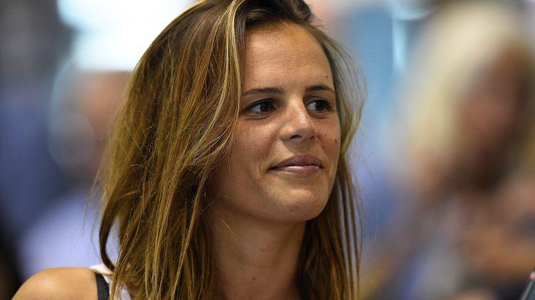 Laure Manaudou,championne olympique du 400 mètres nage libre à Athènes en 2004. (PASCAL GUYOT / AFP)