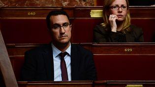 Le députédes Français de l'étrangerM'jid El Guerrabà l'Assemblée nationale, le 15 novembre 2017. (MARTIN BUREAU / AFP)