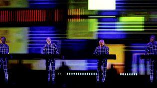 """Les quatre compositeurs du légendaire groupe """"Kraftwerk""""  (PHOTOPQR/VOIX DU NORD)"""