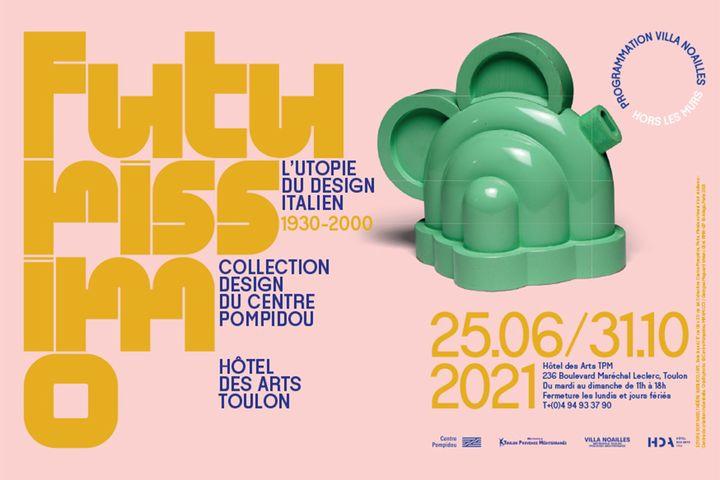 Futurissimo. L'utopie du design italien 1930-2000 - jusqu'au 31 octobre 2021 (ETTORE SOTTSASS, THÉIÈRE BASILICO, 1972. Bois laqué/17cm(h)x2cm (ø) Collection Centre Pompidou, Paris. Musée national d'art moderne - Centre de création industrielle. ©Centre Pompidou, MNAM-CCI/Georges Meguerditchian/Dist.RMN© Adagp, Paris 2021)