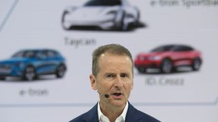 Herbert Diess, le paron du groupe Volkswagen, à Wolfsburg en Allemagne, le 12 mars 2019. (MALTE OSSOWSKI / PICTURE ALLIANCE / AFP)