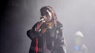 Nadejda Tolokonnikova, co-fondatrice des Pussy Riot, à Montevideo (Uruguay), le 13 avril 2019. (PABLO PORCIUNCULA BRUNE / AFP)