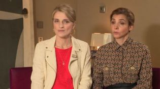Les actrices Olivia Côte et Clotilde Courau. (FRANCE 3)