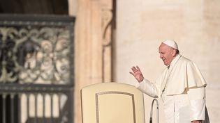 Le pape François au Vatican, le 23 octobre 2019. (VINCENZO PINTO / AFP)
