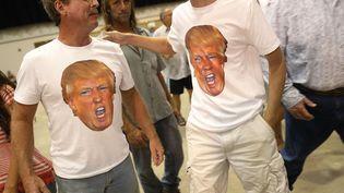 Des supporters de Donald Trump le 3 aout en Floride (Etats-Unis). (JOE RAEDLE / GETTY IMAGES NORTH AMERICA)