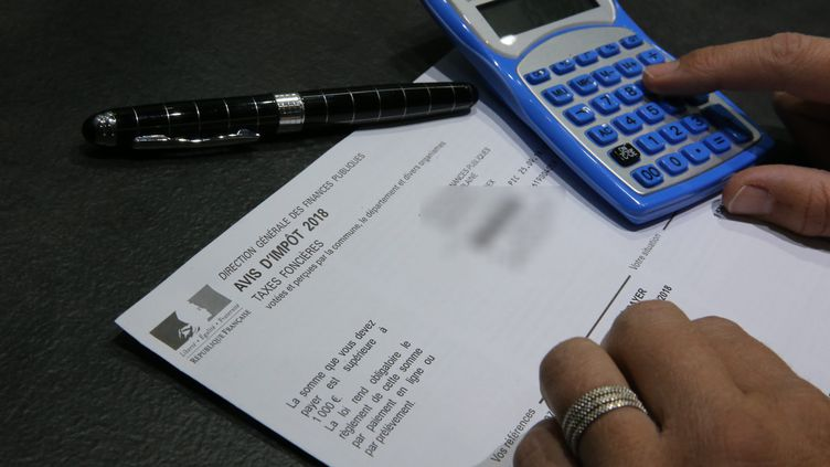Un formulaire de taxe foncièrepour l'année 2018. (MAXPPP)